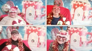 Residents take part in 'Candy Christmas' photo shoot at Manchester care home